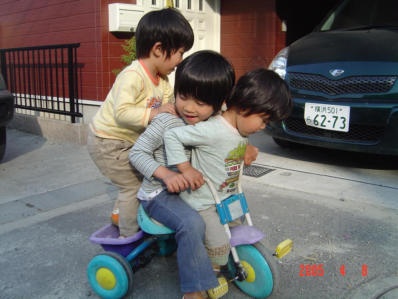 三輪車三人乗り