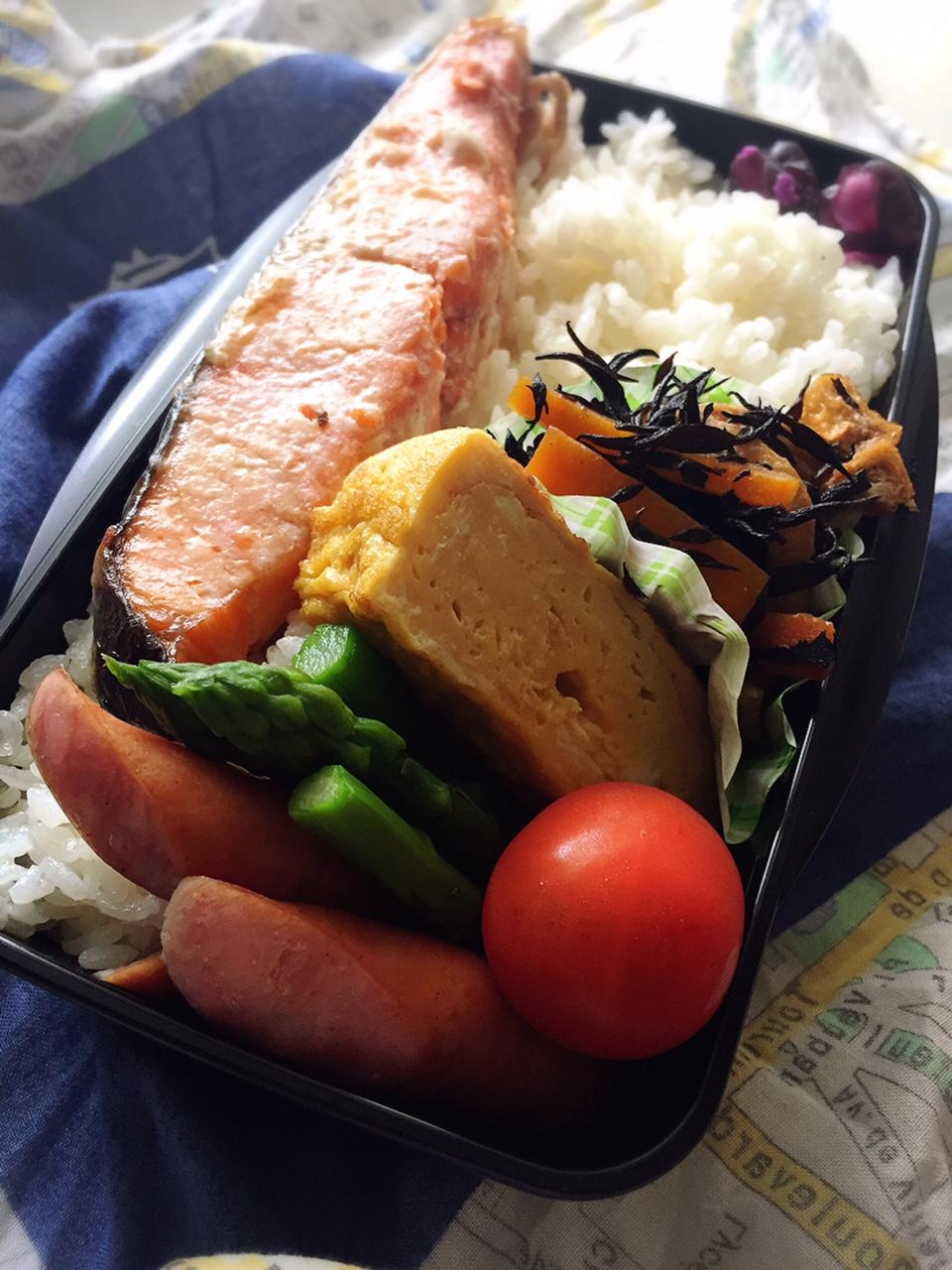 中高生男子弁当 鮭弁