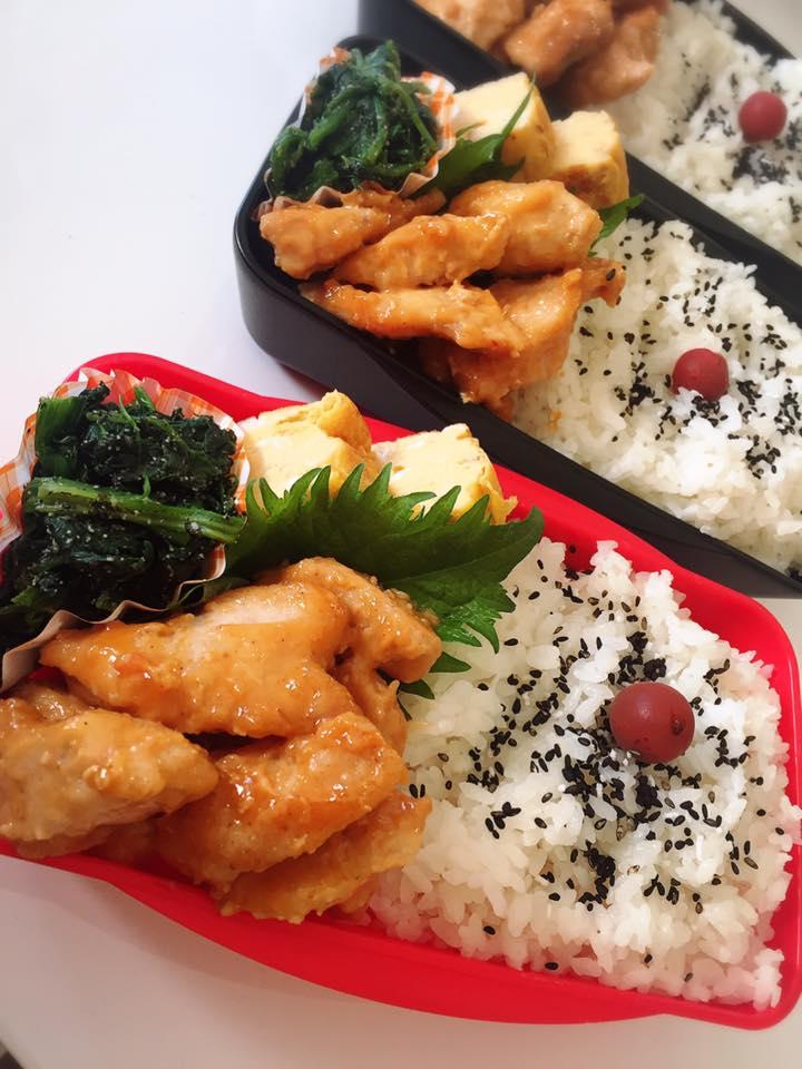 鶏むね肉の味噌マヨ炒め弁当