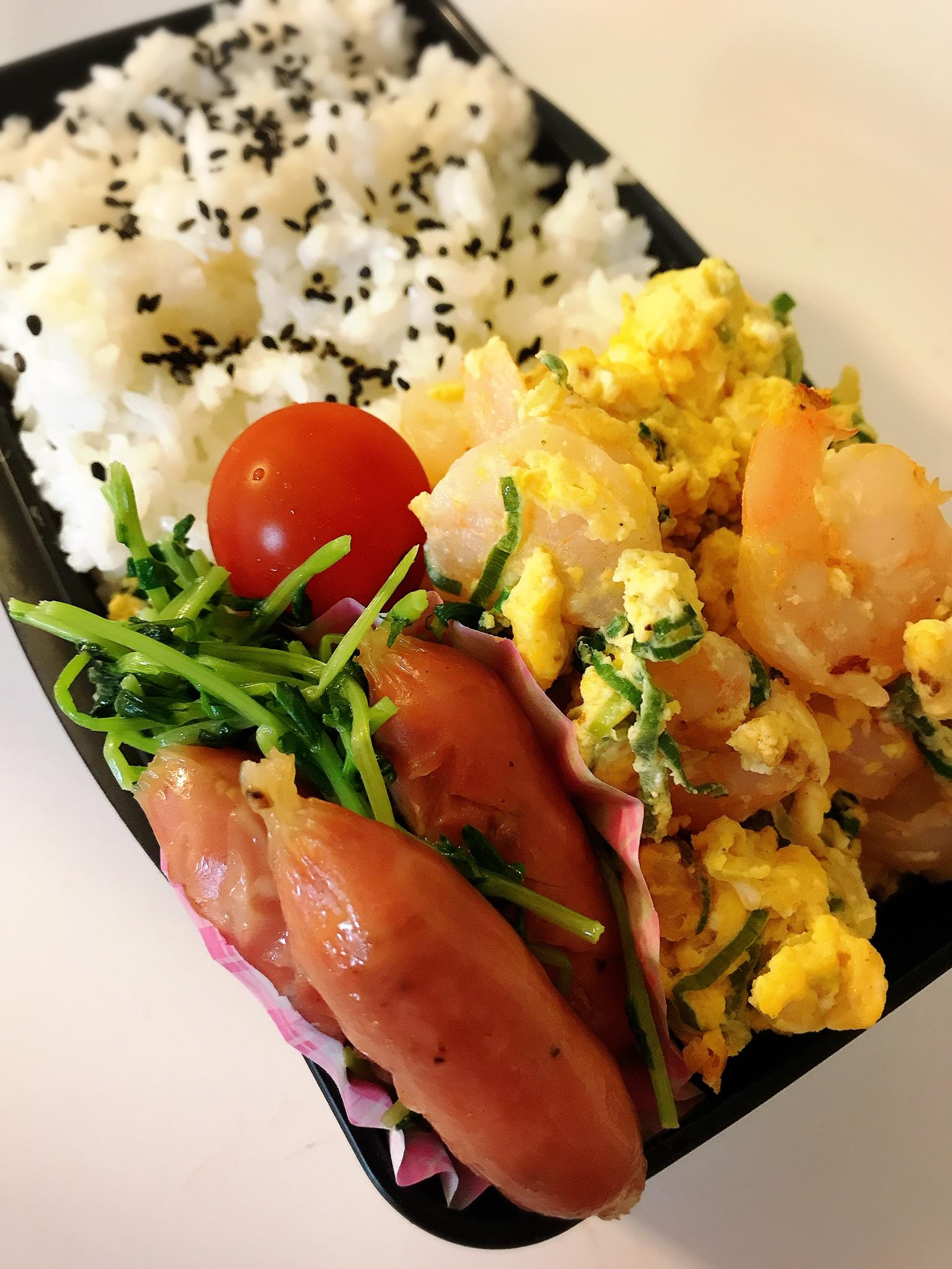 海老と卵炒め弁当
