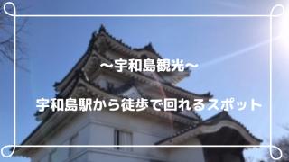 ~宇和島観光~ 宇和島駅から徒歩で回れるスポット